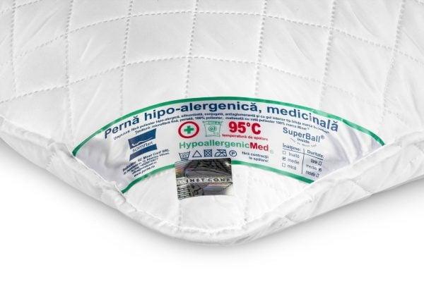 Set 2 perne hipoalergenice Somnart HypoallergenicMed, lavabile la 95°C – 50×70