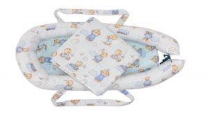 Baby Nest Somnart: Cosulet bebelusi + Salteluta 42x84x2 cm + Paturica 70×70 cm model Ursuleti
