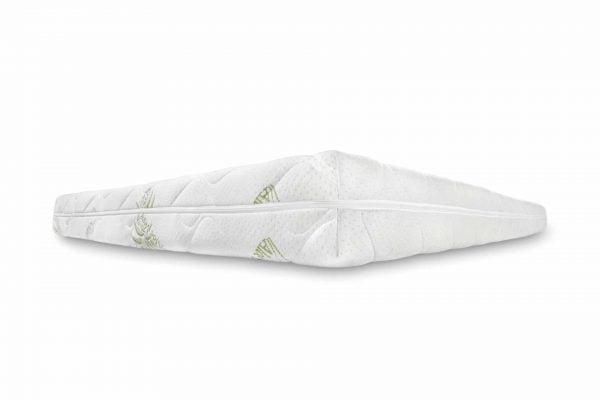 Saltea pentru familie Somnart Confort 4Family Aloe Vera 90x200x14cm, spuma poliuretanica, husa Aloe Vera lavabila si detasabila cu fermoar, fermitate medie