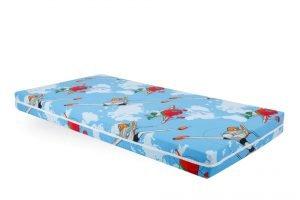Saltea Pat Somnart Memory cu husa protectie impermeabila pentru bebelusi si copii, 8+2 cm spuma cu memorie, model Aviator 60×120