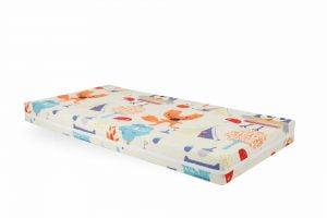 Saltea Pat Somnart Memory cu husa protectie impermeabila pentru bebelusi si copii, 8+2 cm spuma cu memorie, model Bufnita 70×140