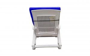 Saltea impermeabila pentru sezlong Somnart 60x190x4.5cm, doua segmente, interior burete, grosime 4.5cm, albastru