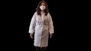 Halat alb, material polipropilena Geosin, refolosibil, autoclavabil – XXL