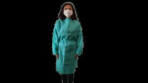 Halat Protectiv, poliester, culoare verde, autoclavabil, refolosibil – XL