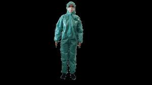 Combinezon impermeabil Protectiv, material netesut laminat, cu fermoar, gluga si elastice – XL