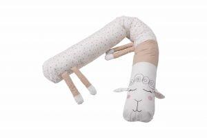 Protecție laterală pentru pătuț, Oiță, Roz, 25×180 cm