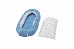 Cuib bebelusi Somnart Baby Nest, albastru