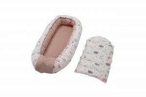 Cuib bebelusi Somnart Baby Nest, roz