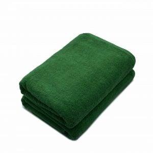 Set 2 prosoape de corp bumbac 100%, 600gsm, Somnart, 70x140cm, verde