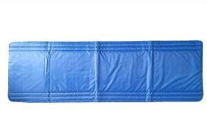 Saltea impermeabila pentru sezlong Somnart 60x190cm, doua segmente, interior vatelina, grosime 1cm, albastru