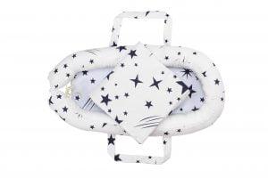Baby Nest Somnart: Cosulet bebelusi + Salteluta 42x84x2 cm + Paturica 70×70 cm model Stelute