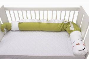 Protecție laterală pentru pătuț, Dragon, Verde, 25×180 cm
