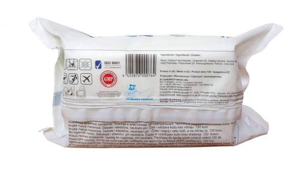 Servetele Umede Baby Wipes Universale 120 buc Spring Line cu Capac Extract de Lavanda