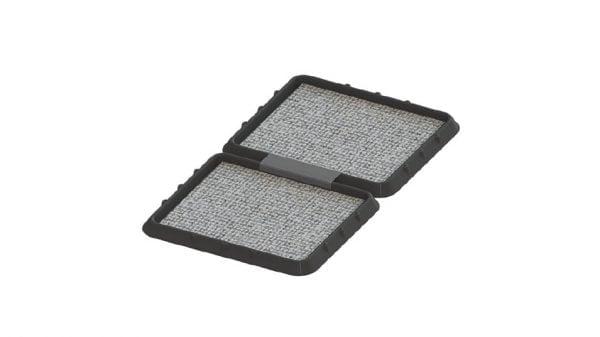 SET 2 x Covor dezinfectant cu tava de retentie, 2 buc x 48,5 x 42 x 5 cm, asamblabile smart