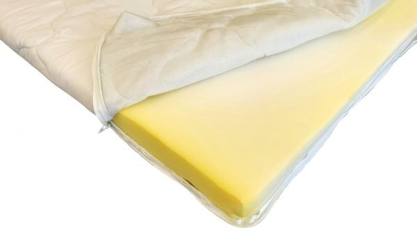 Topper HypoallergenicMed Somnart cu husa microfibra detasabila spalare la 95°C – 90x200xH5