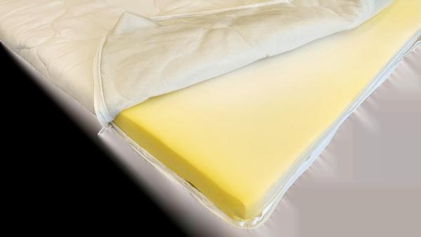 Topper HypoallergenicMed Somnart, cu husa bumbac 100%, detasabila, spalare la 90°C – 140×200 cm