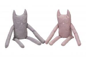 Perna in forma de pisica SomnArt, bumbac, umplutura lavanda, Gri