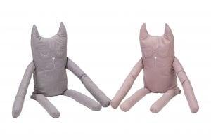 Perna in forma de pisica SomnArt, bumbac, umplutura lavanda, Roz