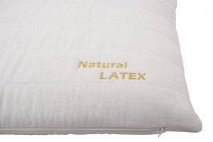Perna clasica Somnart Natural Latex, White, 66x38x14 cm