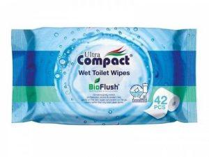 Hartie igienica umeda, Wet Toilet Wipes Ultra Compact BioFlush, biodegradabila, Ultra Compact, 42 buc/set