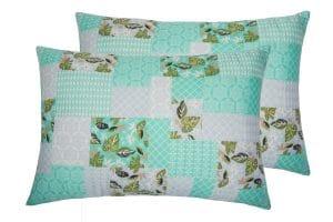 Set 2 perne Green Flowers, Somnart, 50×70 cm