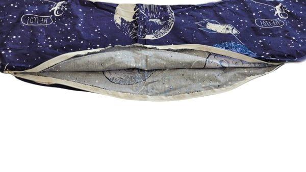 HUSA aditionala pentru Perna 3 in 1: gravide, alaptat, suport bebe, model Cosmos