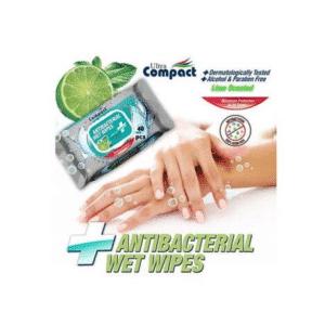 Servetele Umede Antibacteriene 🚫🦠 pentru Maini, Dezinfectante, Ultra Compact, 40 buc/set, fara Alcool sau Parabeni, Lime 🍋