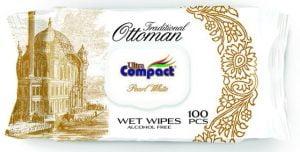 Servetele Umede cu capac Traditional Ottoman Series Ultra Compact, Pearl White, 100 buc/set